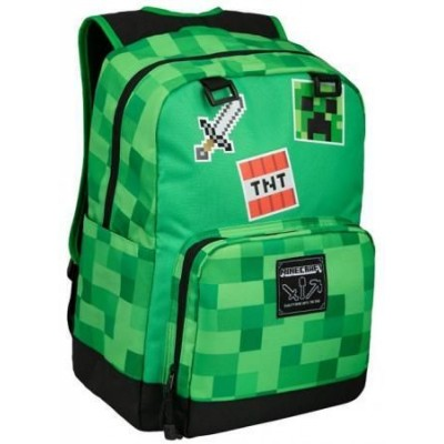 "Рюкзак JINX Minecraft Survival Badges Backpack 17"", Green"